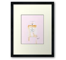 Iconic Perfume Watercolour Illustration Framed Print
