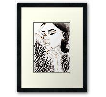 Dark Gloss Watercolour Illustration Framed Print
