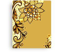 Gold Lace Canvas Print
