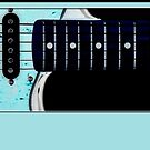 guitar blue by tinncity