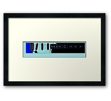 guitar blue Framed Print