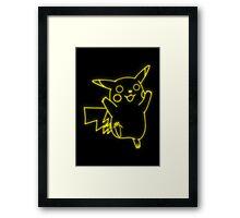 Neon Pikachu Framed Print
