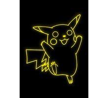 Neon Pikachu Photographic Print