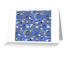 Doctor who All over Greeting Card