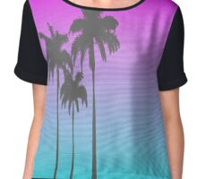 Hotline Miami Palm Tree Chiffon Top