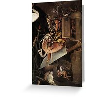 Monsters eating a Knight by Hieronymus Bosch Greeting Card