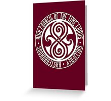 Doctor Who - High Council of the Time Lords - Gallifrey Greeting Card