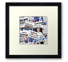 Hillary Clinton Nomination Historic Newspapers Framed Print