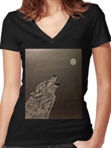 The Howling Women's Fitted V-Neck T-Shirt
