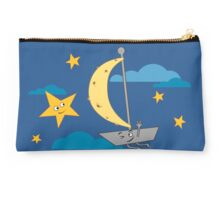 Moon ship sailing sky Studio Pouch