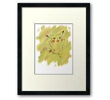 Watercolour Pikachu Framed Print