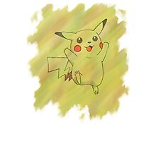 Watercolour Pikachu Photographic Print