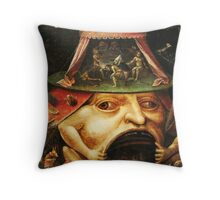 Hieronymus Bosch monster eating people Throw Pillow