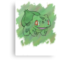 Watercolour Bulbasaur Canvas Print