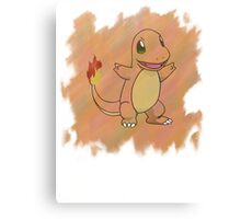 Watercolour Charmander Canvas Print