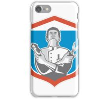 Barber Hair Clipper Scissors Shield Retro iPhone Case/Skin