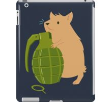 Hamster with a Handgrenade iPad Case/Skin
