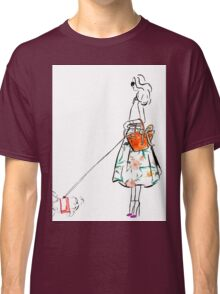 Along the Upper East Side Watercolour Illustration Classic T-Shirt
