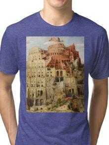 Pieter Bruegel Tower of Babel Tri-blend T-Shirt