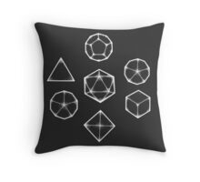 Dot Work Role Playing Dice - White  Throw Pillow