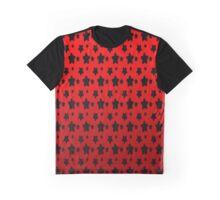 Metallic Red Hocus Pocus Stars Pattern  Graphic T-Shirt