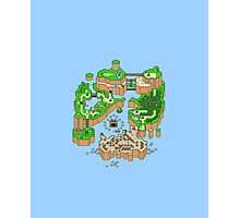 Super mario world map Photographic Print