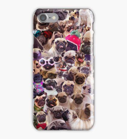Pugs, pugs, pugs iPhone Case/Skin