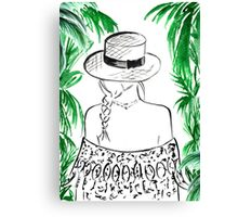 Paradise Found Watercolour Illustration Canvas Print