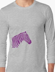Zebra - Purple Long Sleeve T-Shirt