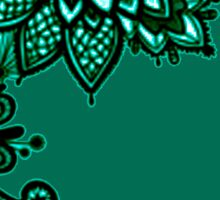 Green Lace Sticker