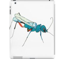 Blue Wasp Bug Insect Cute Illustration Drawing Unique iPad Case/Skin
