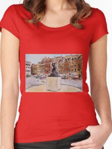 Warsaw Old Town Women's Fitted Scoop T-Shirt