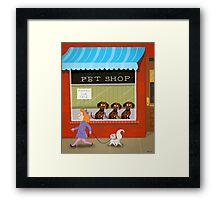 Puppies For Sale Framed Print