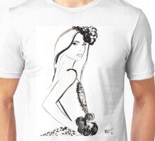 Parisian Darling Watercolour Illustration Unisex T-Shirt