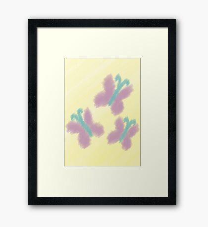 Watercolour Fluttershy Cutie Mark Framed Print