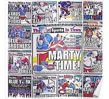 Newspaper Style NYR Poster