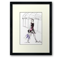 Pink Bow Watercolour Illustration Framed Print