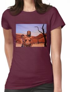 Himba Girls Of Namibia Womens Fitted T-Shirt