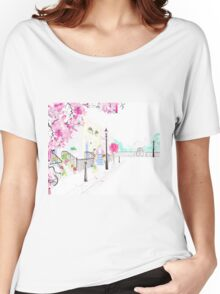 Strolling through Primrose Hill Watercolour Illustration Women's Relaxed Fit T-Shirt