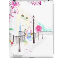 Strolling through Primrose Hill Watercolour Illustration iPad Case/Skin
