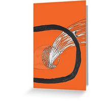 Comet Cute Abstract Simple Chill Art Relaxing Greeting Card