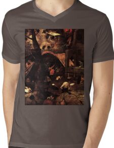 Dulle Griet Detail by Pieter Bruegel Mens V-Neck T-Shirt