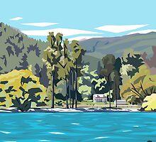 Wilson's Bay, Queenstown by Ira Mitchell-Kirk by Ira Mitchell-Kirk