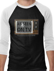 As Seen on TV Vintage  Funny Design  Men's Baseball ¾ T-Shirt