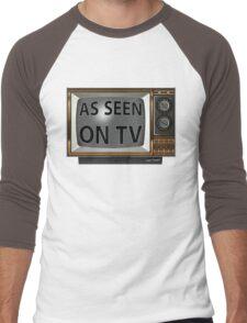 As Seen on TV Vintage  Funny Design  Men's Baseball ¾ T-Shirt