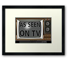 As Seen on TV Vintage  Funny Design  Framed Print