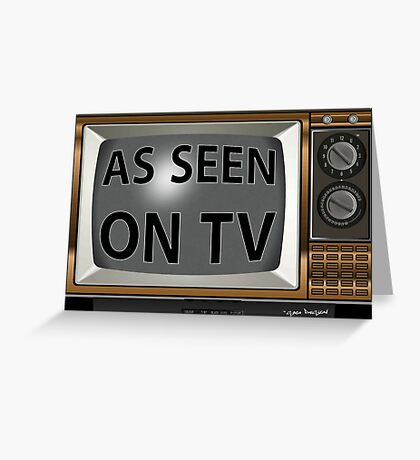 As Seen on TV Vintage  Funny Design  Greeting Card