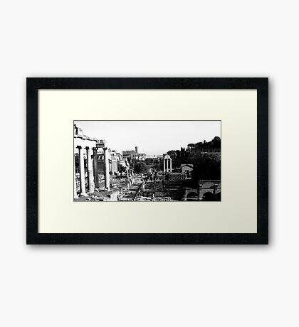 in ruins Framed Print