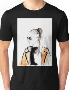 Top Ponytail Watercolour Illustration Unisex T-Shirt