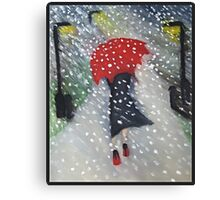 Snow walk Canvas Print